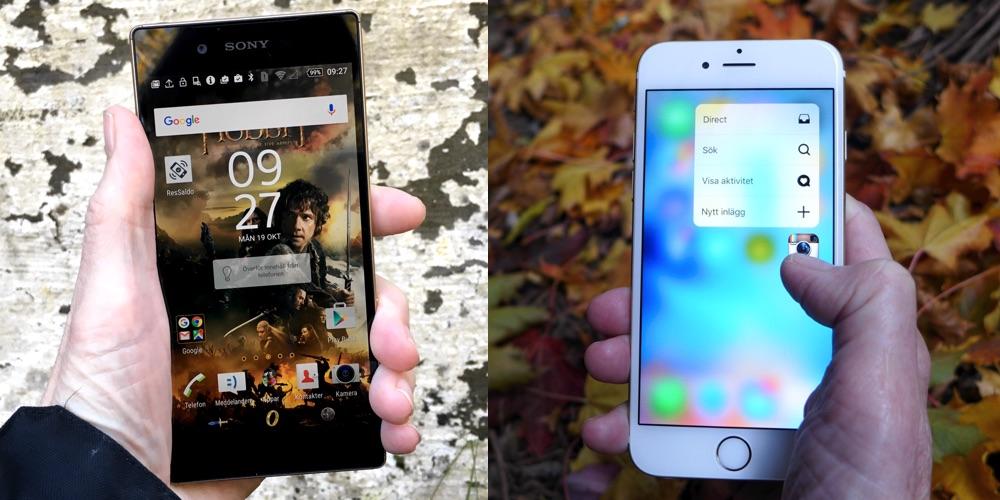 Xperia Z5 mot iPhone 6S – så blir bilderna