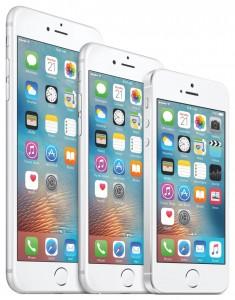 iphone i tre storlekar