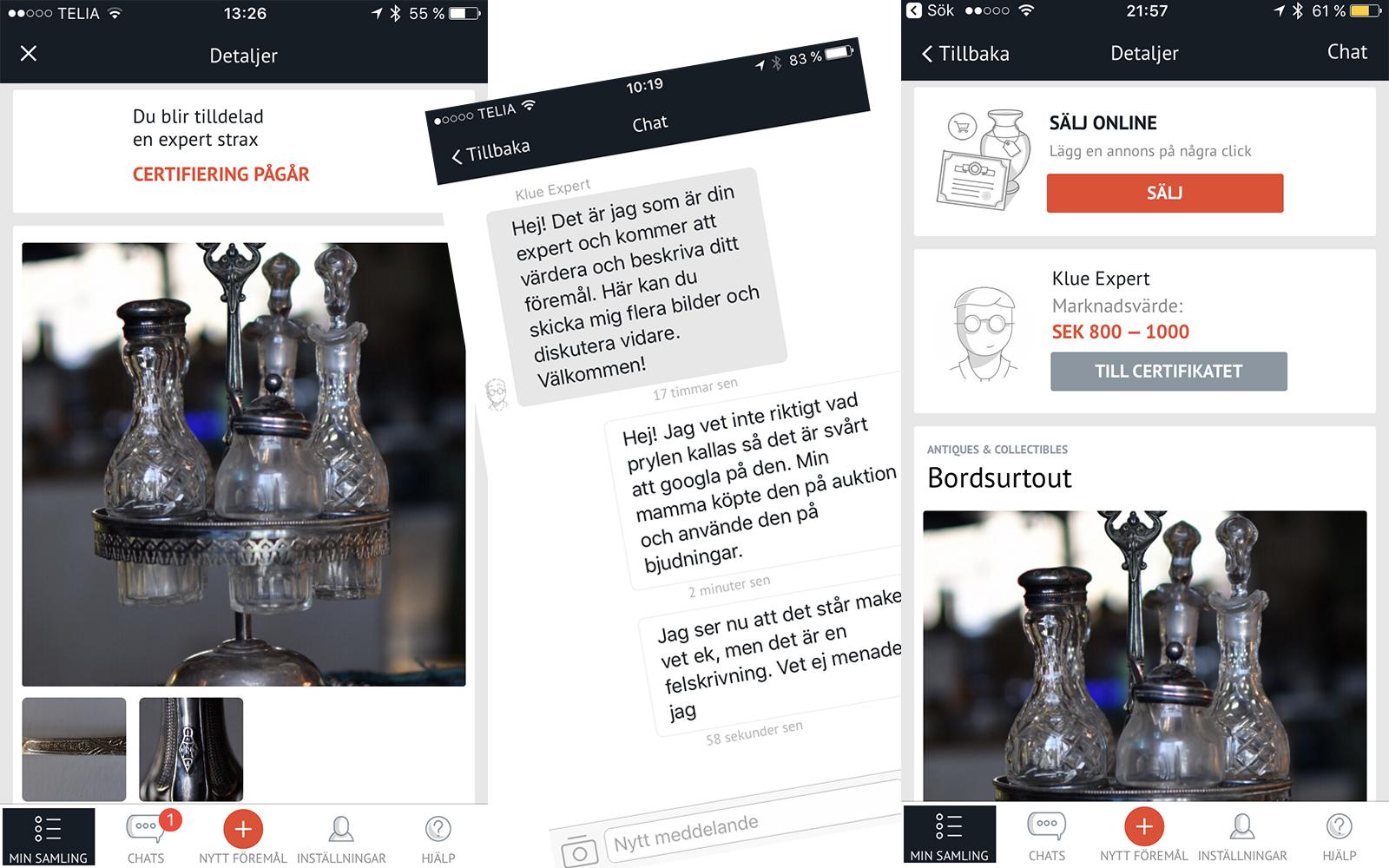 Värdera gamla prylar i en app