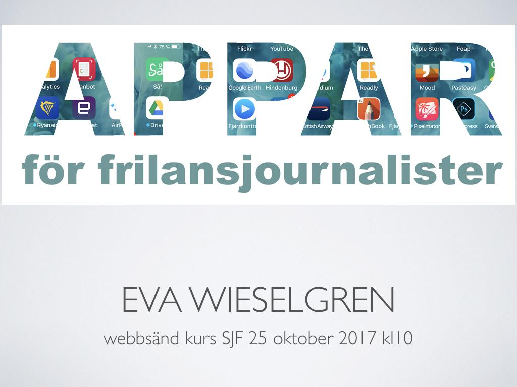 Appar för frilansjournalister