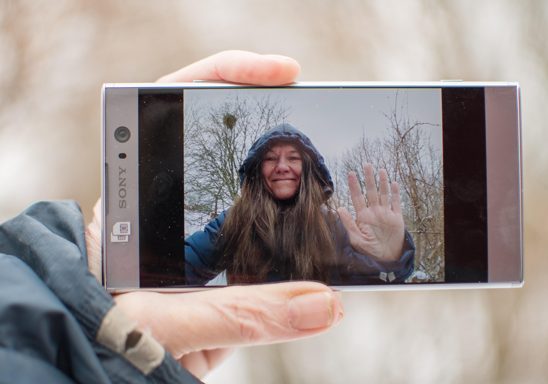 Vinka så tar du en selfie