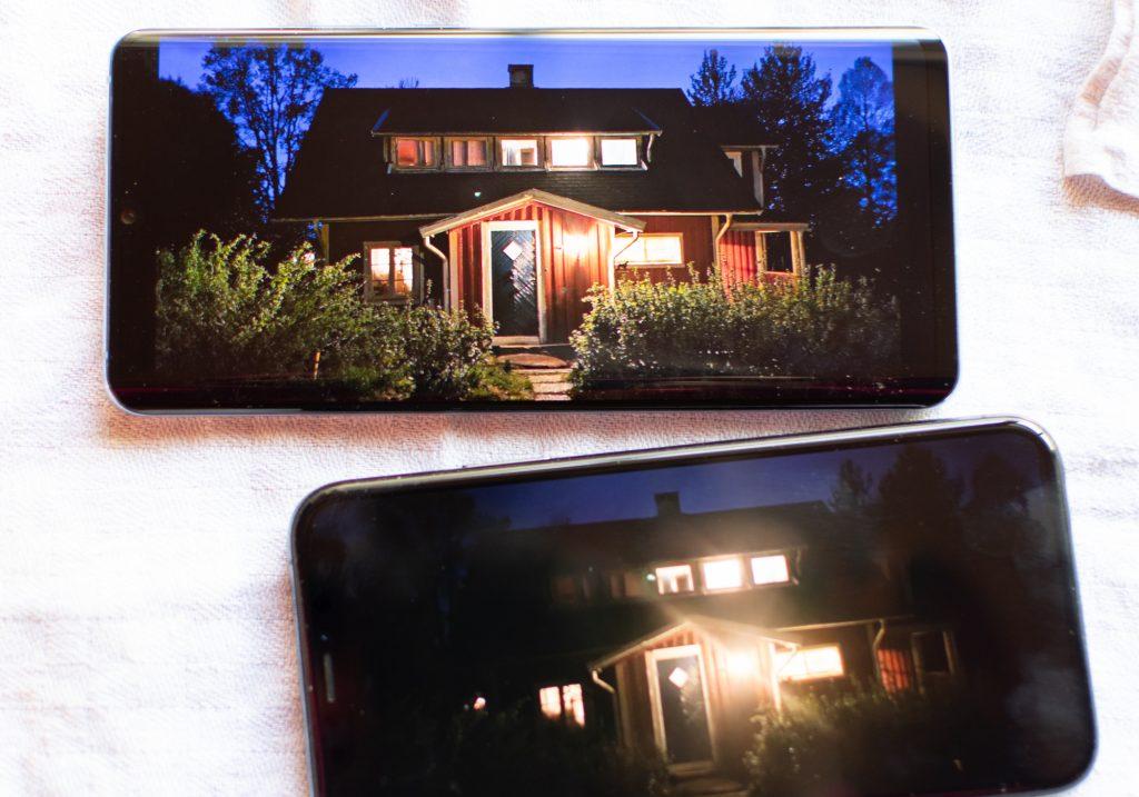 jämförelse av nattbilder p30 pro och iphone.