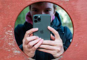 Iphones baksida med 3 kameror