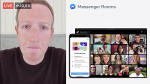 Skärmbild. Zuckerberg om Messenger meetings