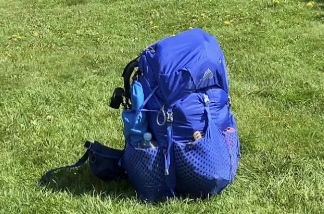 blå ryggsäck