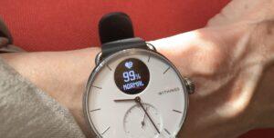 klocka som visar syresättning i blodet